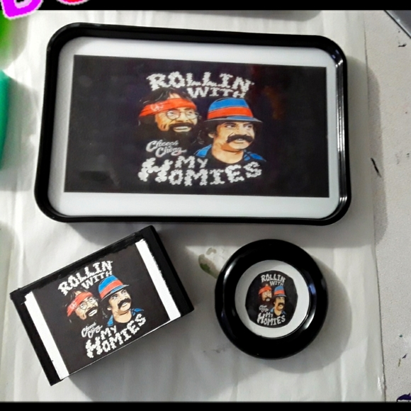 Cheech & Chong Rolling Tray Set